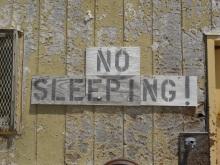 No Sleeping!